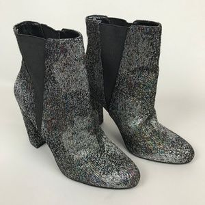 Steve Madden Color Effect Shimmer Booties Rainbow